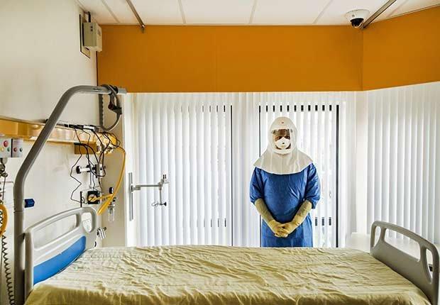 Epidemics 21 Century Ebola Hospital Room Contamination Suit ESP