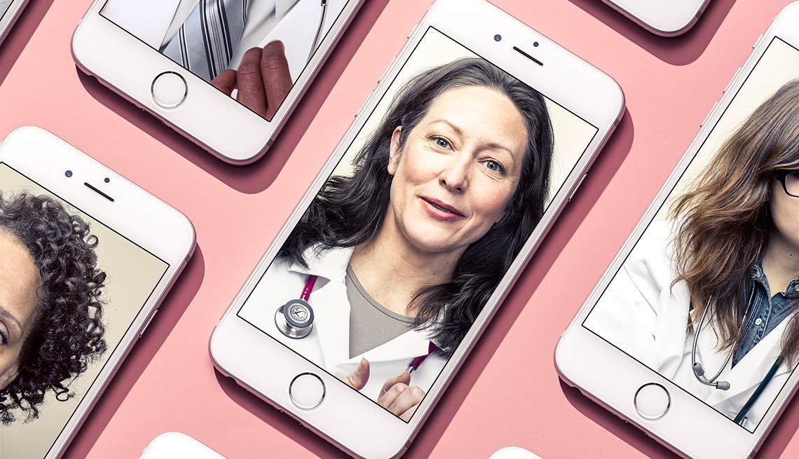 Doctors videoconferencing on smartphones, Better Health Through Technology