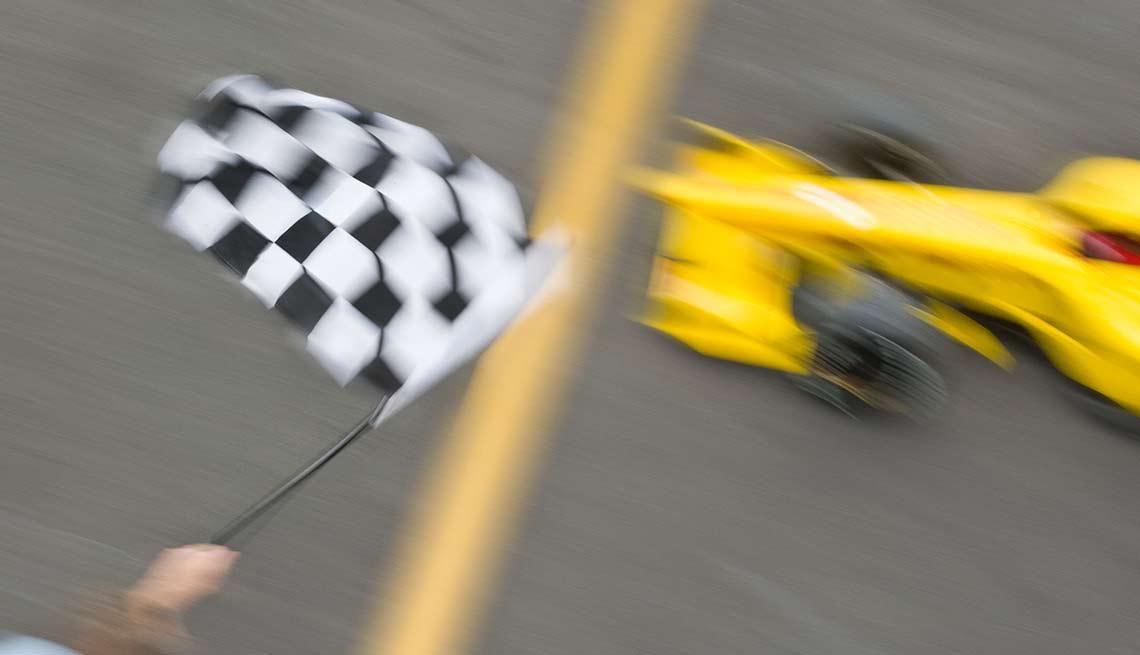 Auto de Formula 1 en carrera