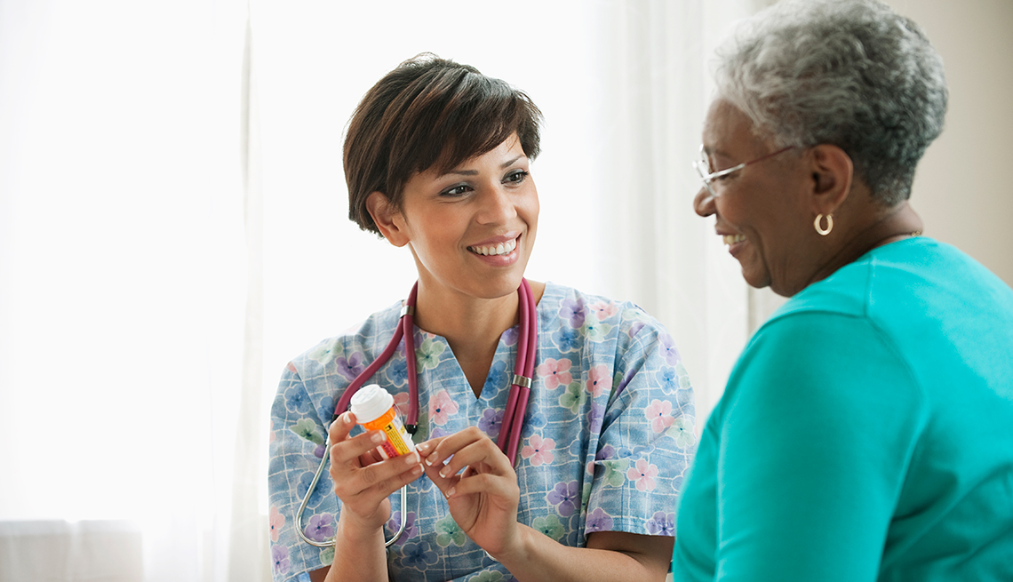 Patient and doctor disscusing medication