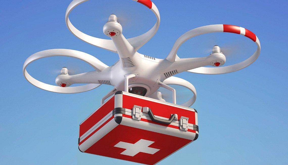 Avión teledirigido al servicio de la medicina