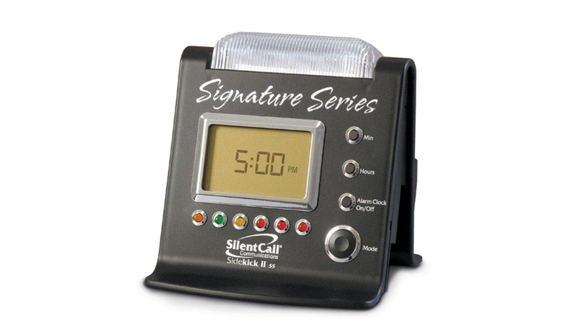 Reloj despertador/receptor estroboscópico silencioso Sidekick II