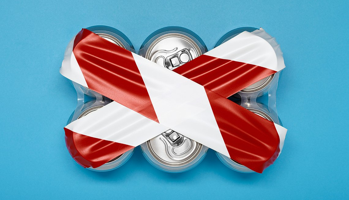 Prevent Diabetes, Soda cans six pack