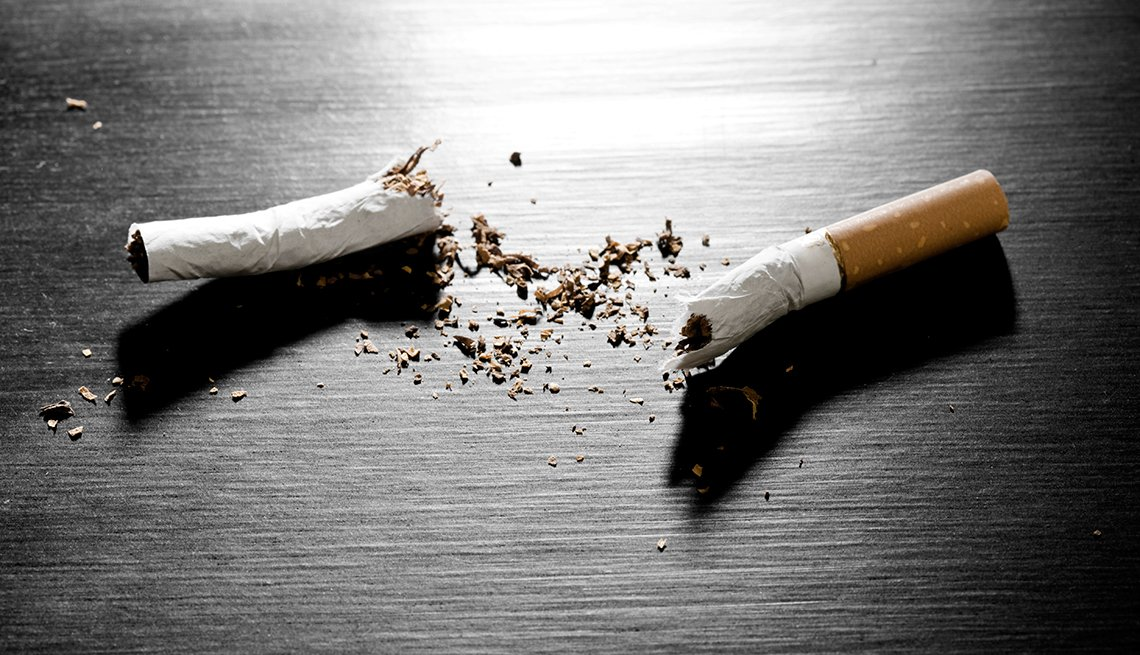 A cigarette broken in half on a table, Tips to Protect Your Hearing