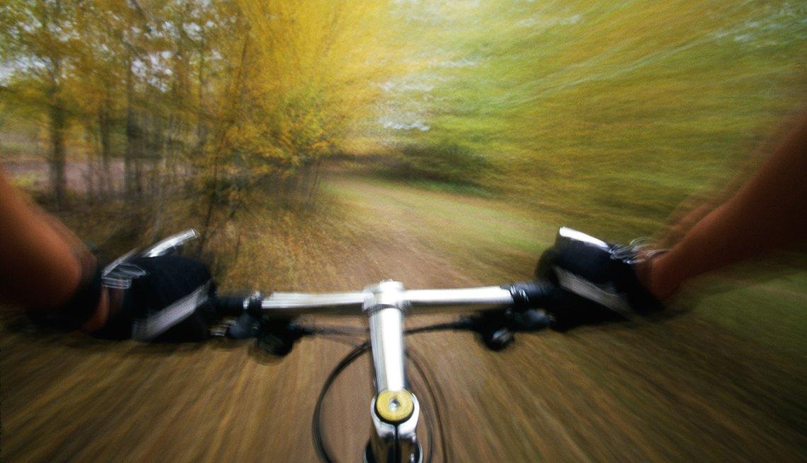 Corriendo bicicleta