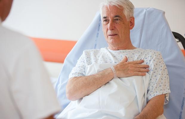 Paciente con una afección del corazón