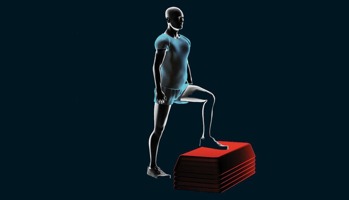 Figura gráfica de un hombre haciendo ejercicios