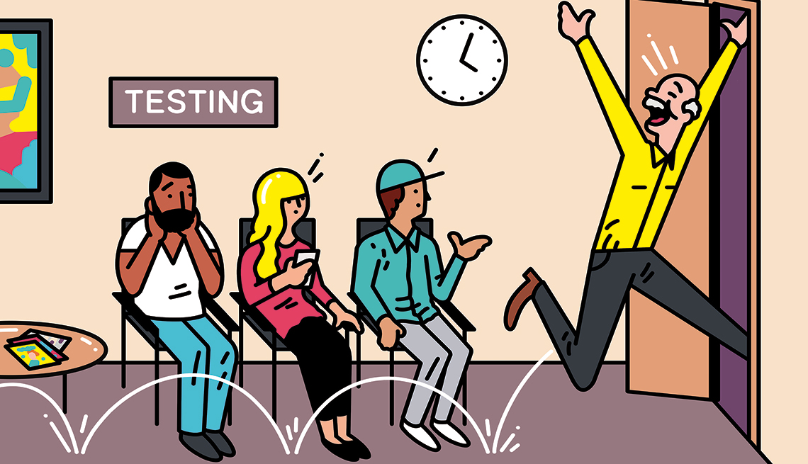 Imagen de unos pacientes en la sala de espera de un médico
