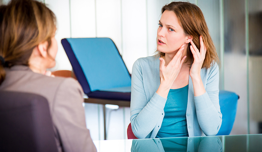 What types of disorders would cause someone to hear voices?
