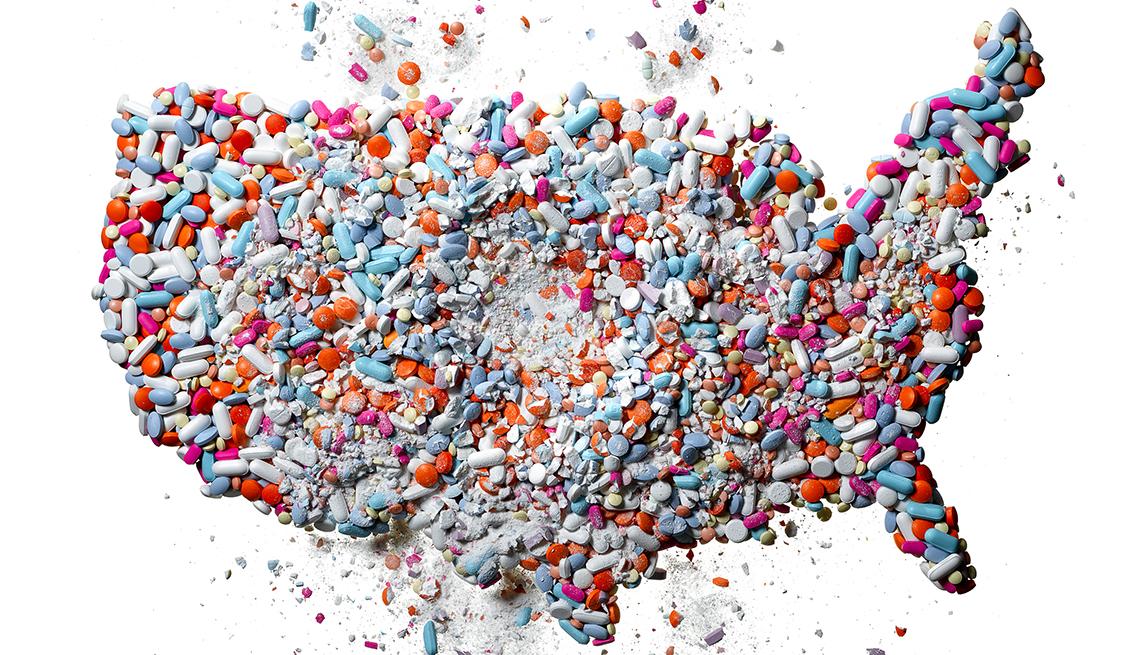 Opioid USA Map, AARP