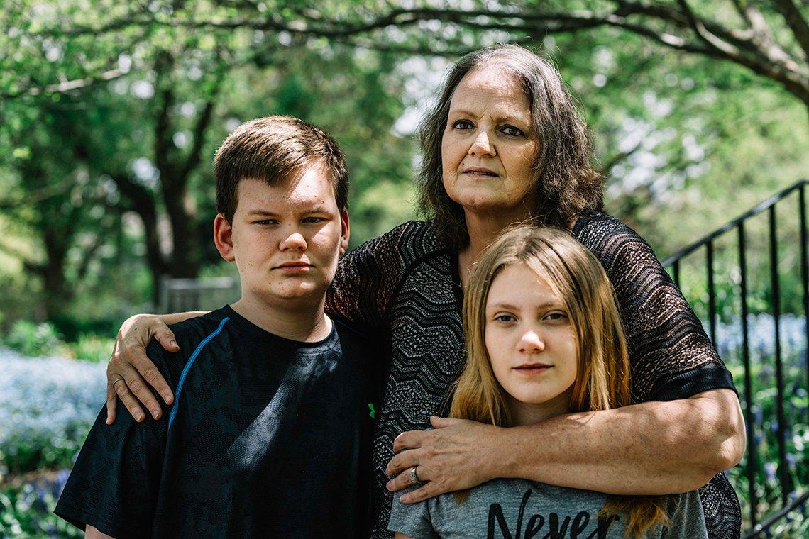 Renee Hicks and her grandchildren