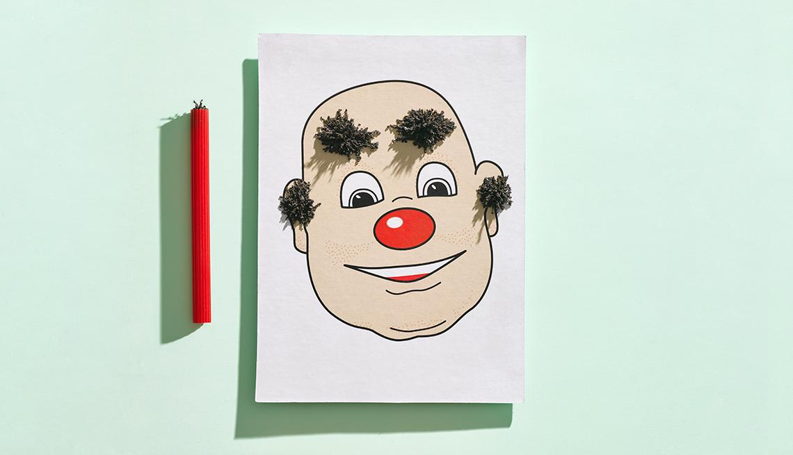 Figura de una caricatura en un papel