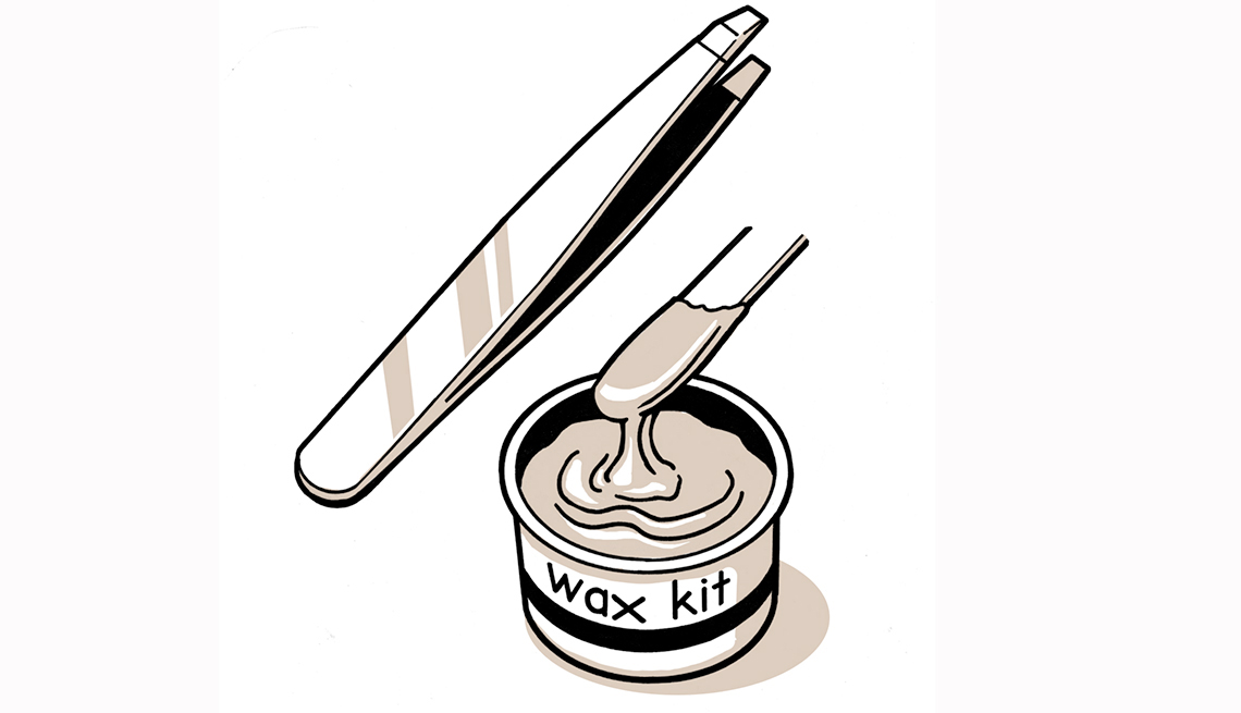 Gráfico de un kit de depilación