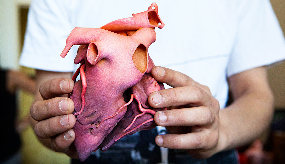 Three dimensional printed heart