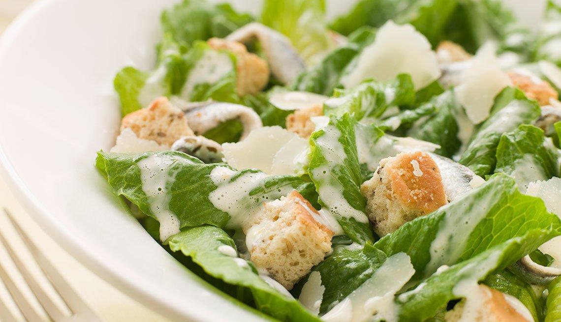Cesar Salad on a plate
