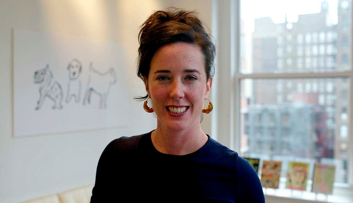 Kate Spade, designer, is photographed at her offices.