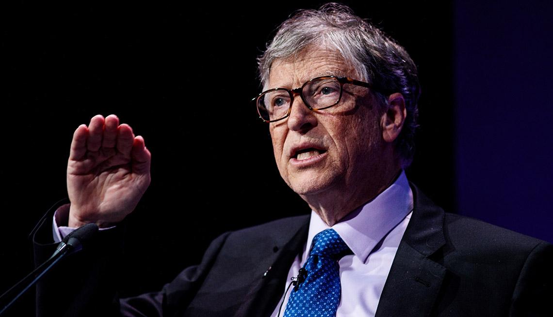 Bill Gates giving a speech