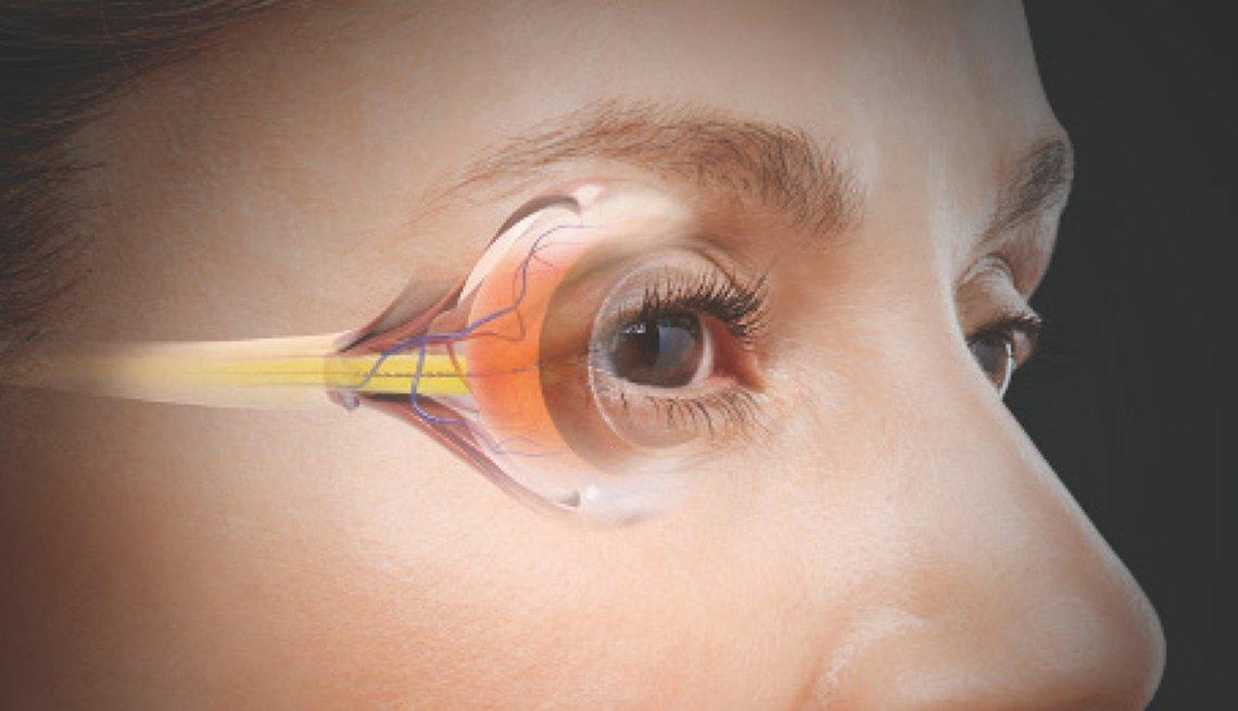 Ilustración del ojo de una mujer