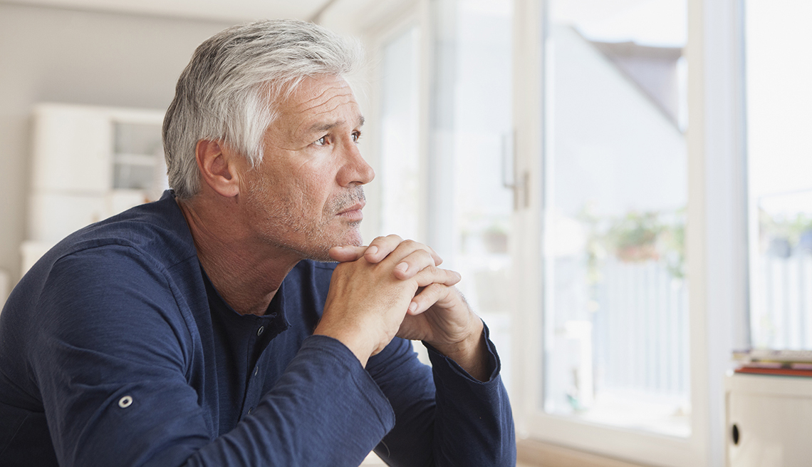 Concerned older gentleman