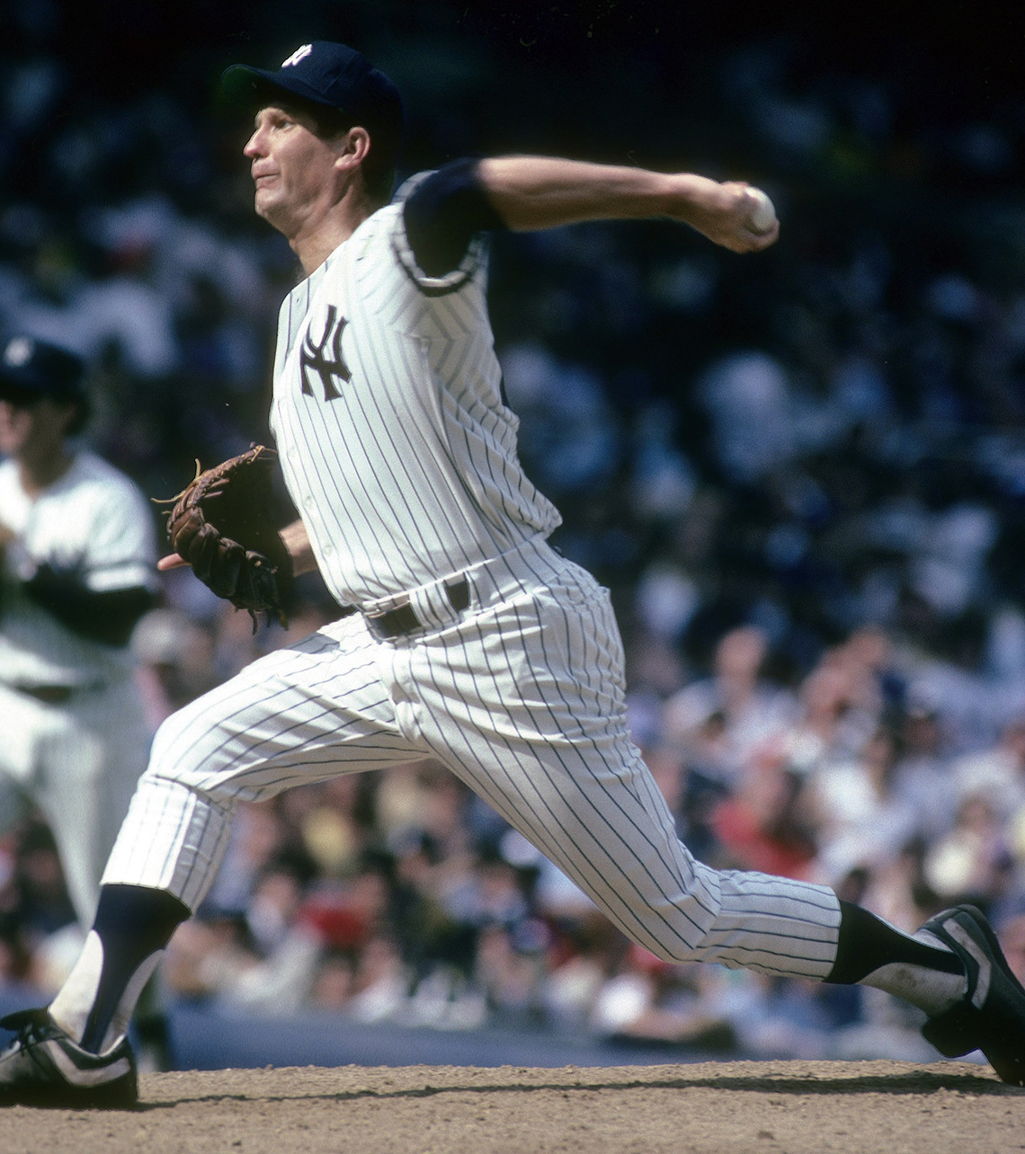 Pitcher Tommy John in the 1980s