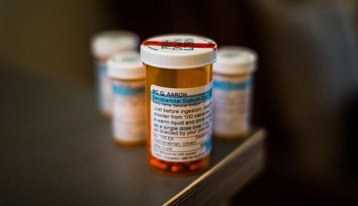 Frascos de medicamentos de Aaron McQ
