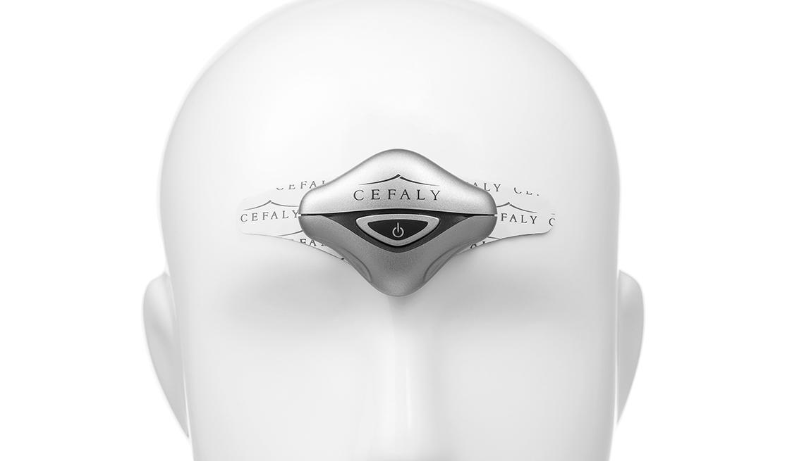 Gráfico de una cabeza humana enfatizando la cefalía