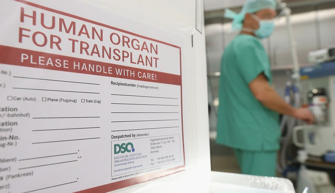 Close up of Organ Transplant Box