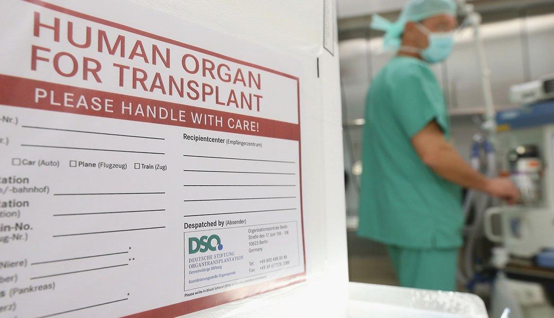 Close up of Organ Transplant Box