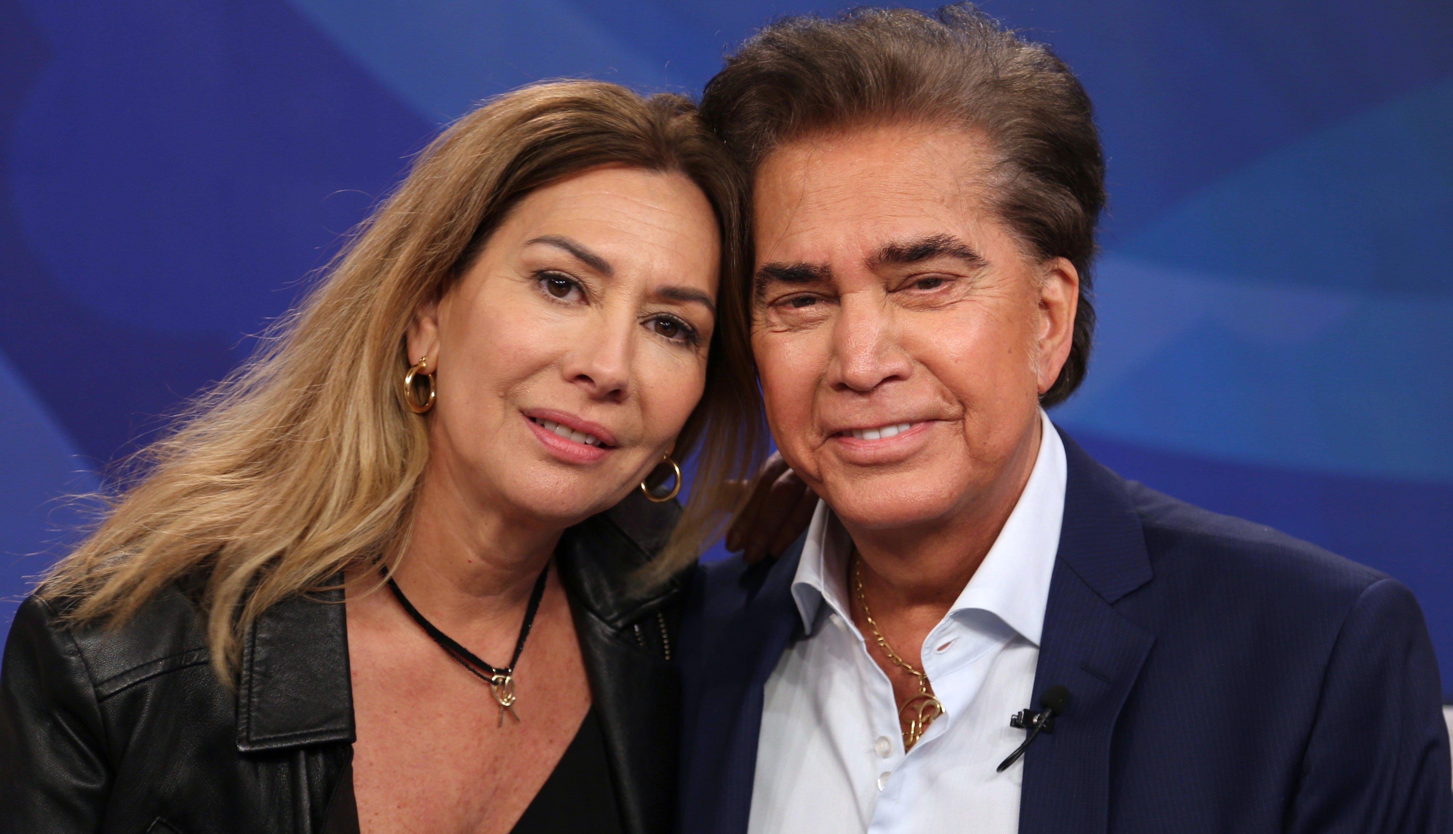 José Luis Rodríguez, El Puma, junto a su esposa Carolina Pérez
