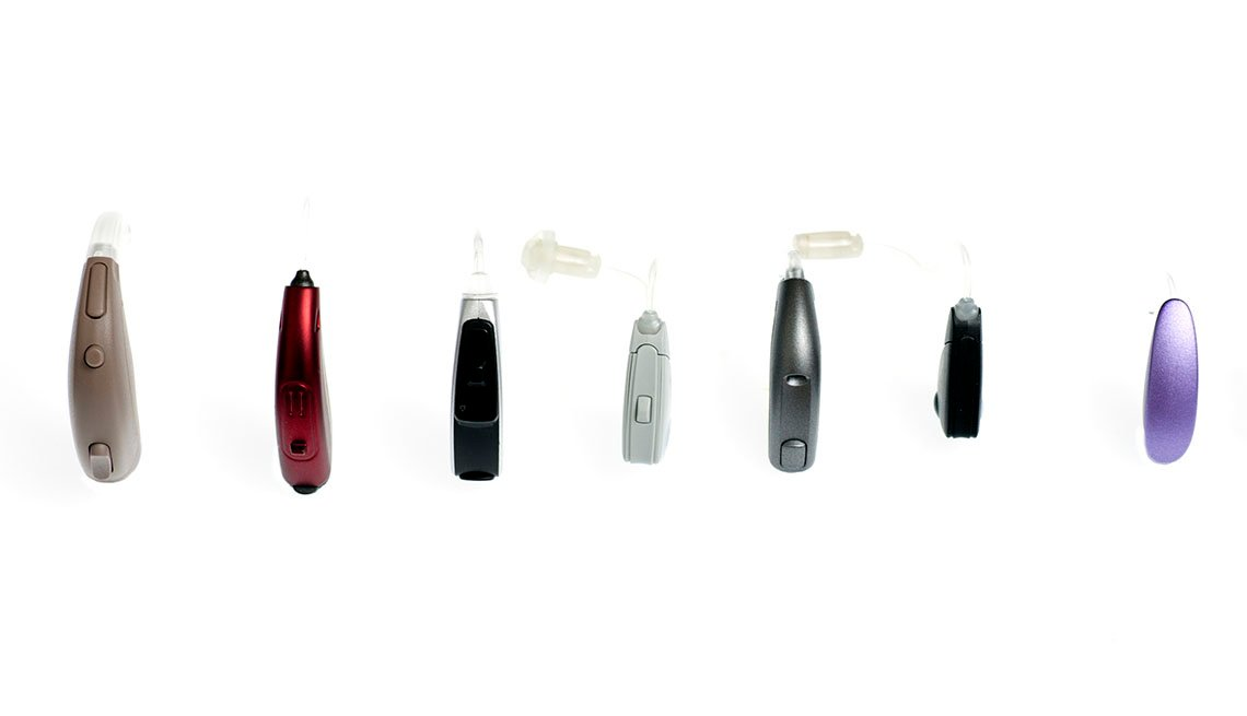 Row of hearing aids