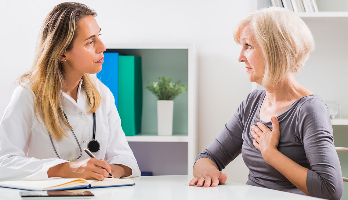 Woman with medical provider