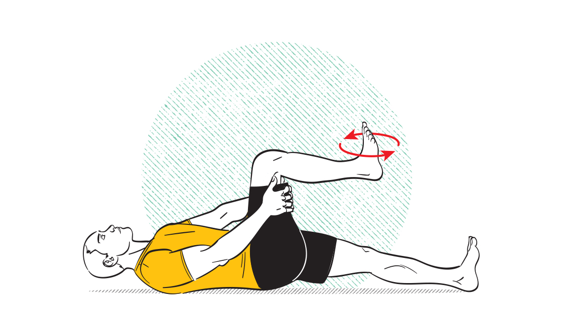 How-to diagram of ankle roll exercise