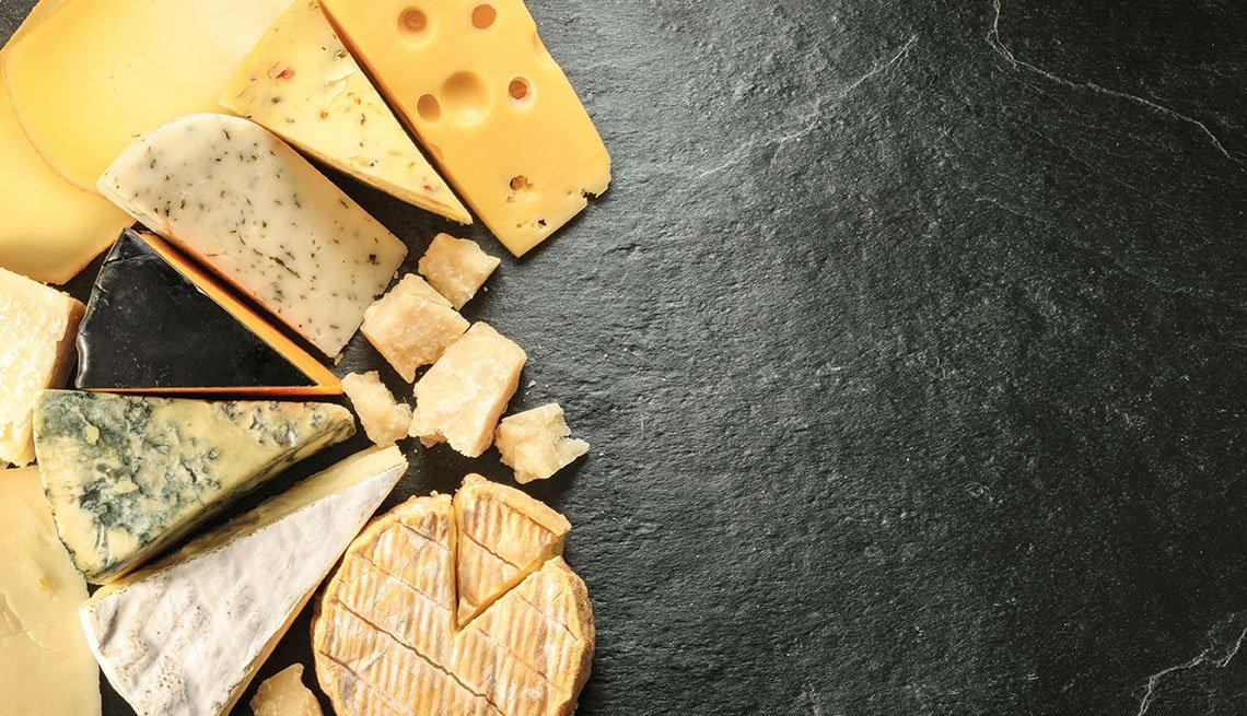 Galletas y quesos