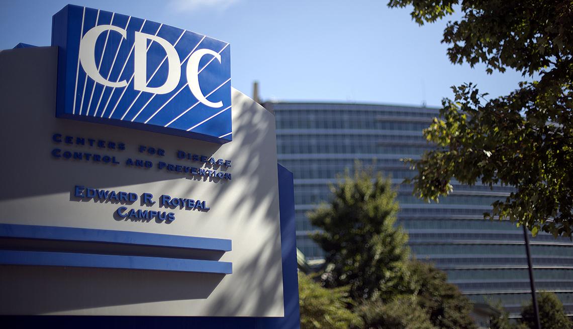 Rótulo a la entrada de los Centros para el control de enfermedades
