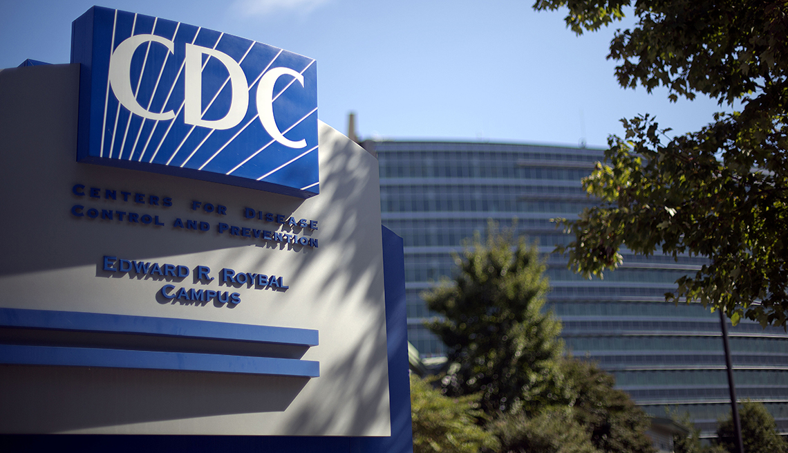 A sign marks the entrance to the Centers for Disease Control and Prevention in Atlanta