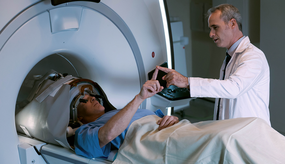 A patient undergoing a treatment called Exablate Neuro