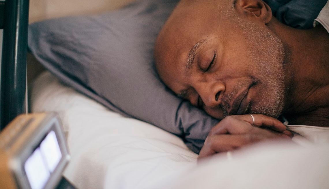 African American man sleeping