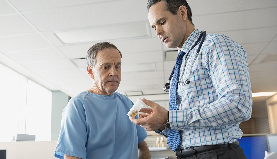 doctor and patient discussing medication