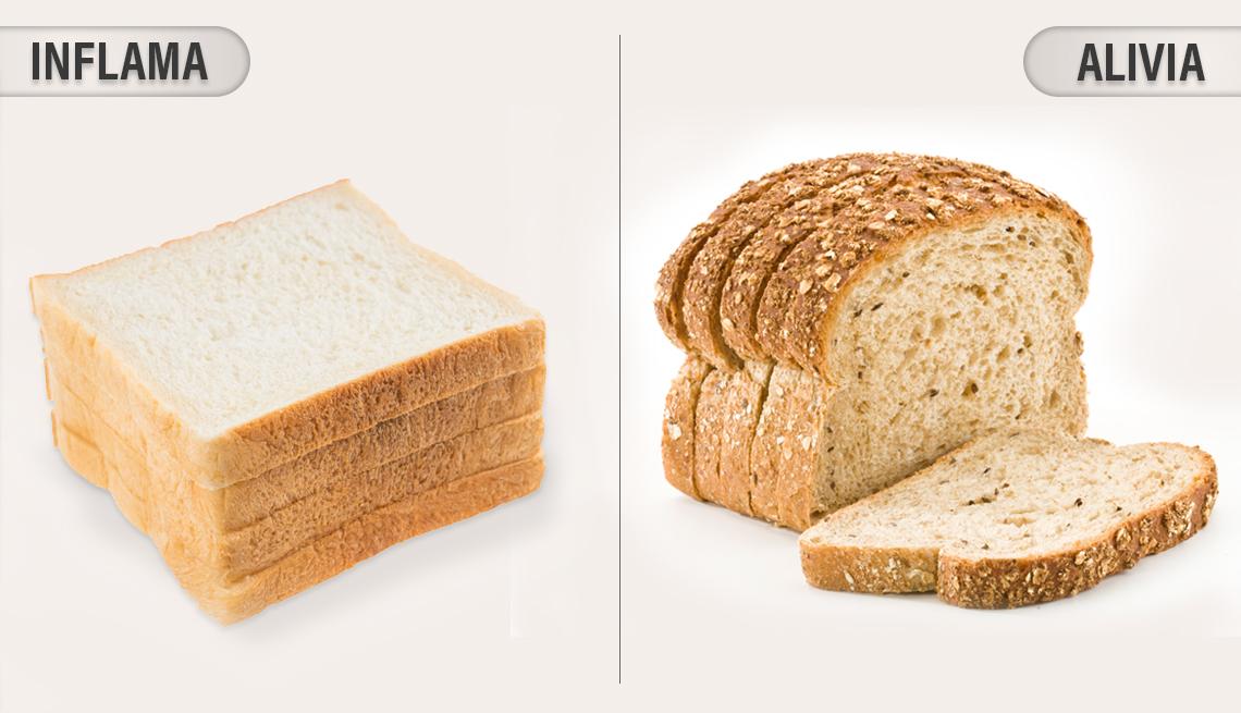 item 1 of Gallery image - Pan blanco y pan de granos enteros