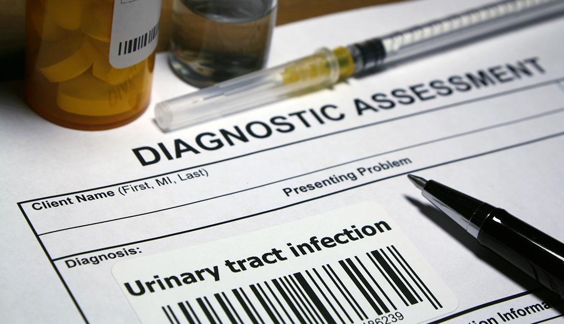 Formulario de evaluación médica para infecciones urinarias