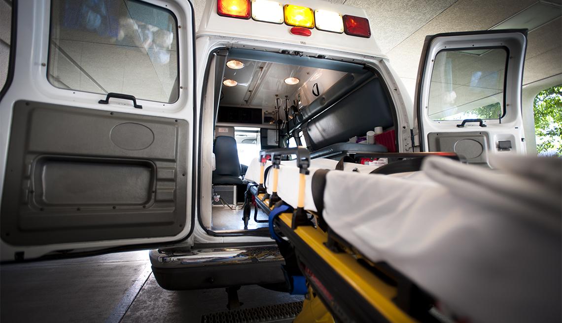 Stretcher and ambulance
