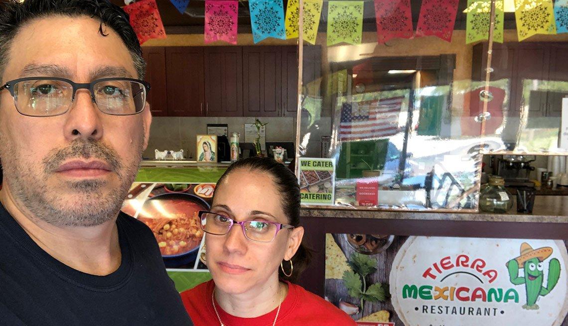 Luis Miguel Viloria y su esposa Pamela Pérez