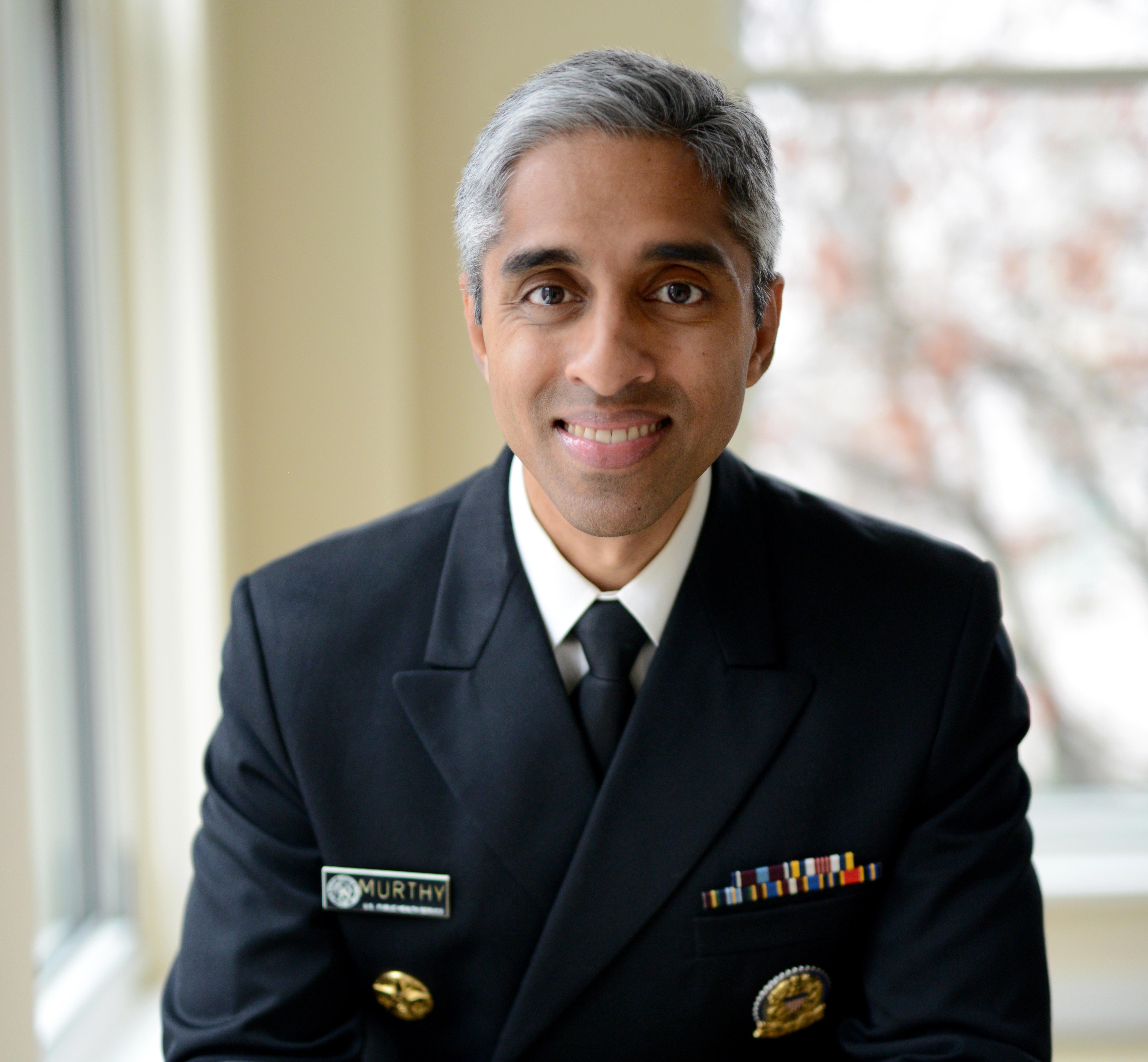 portrait of vivek murthy wearing uniform