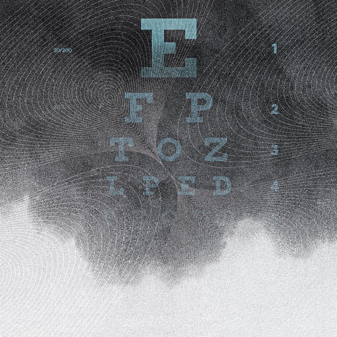 Tabla de examen ocular borrosa