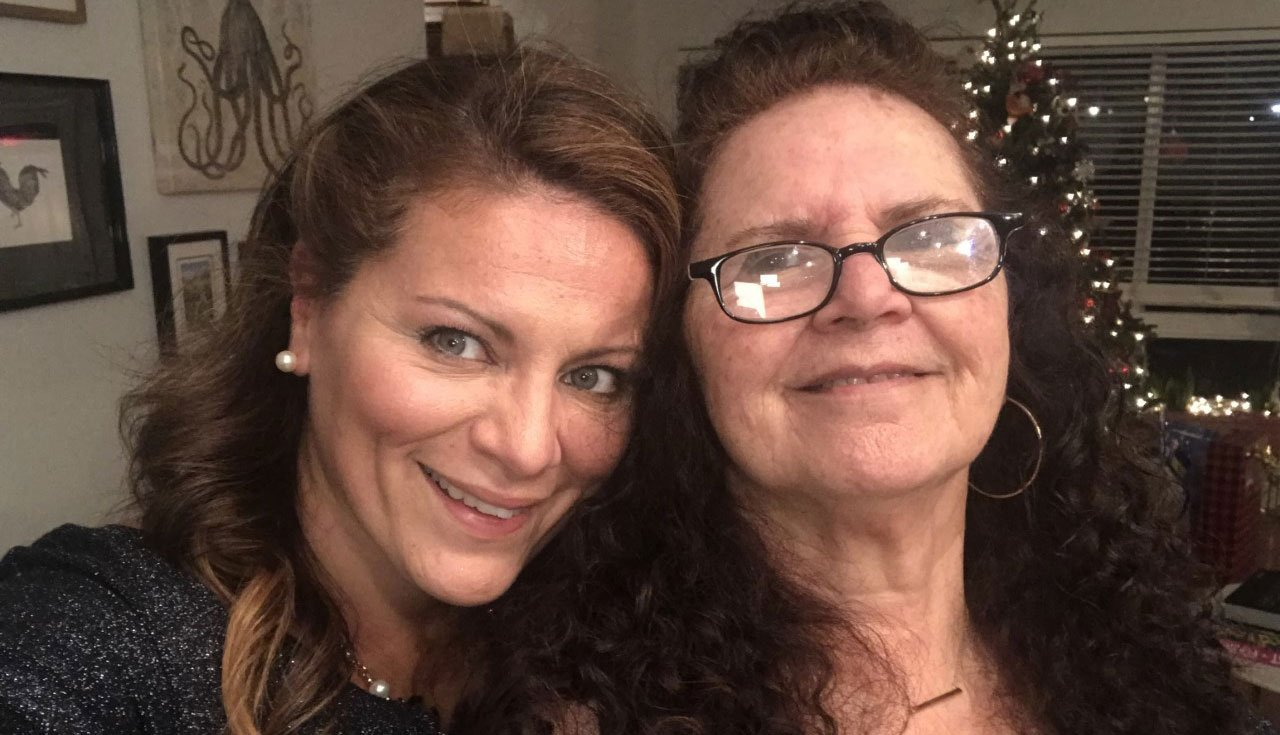Romina Magorno junto a su mamá Cristina
