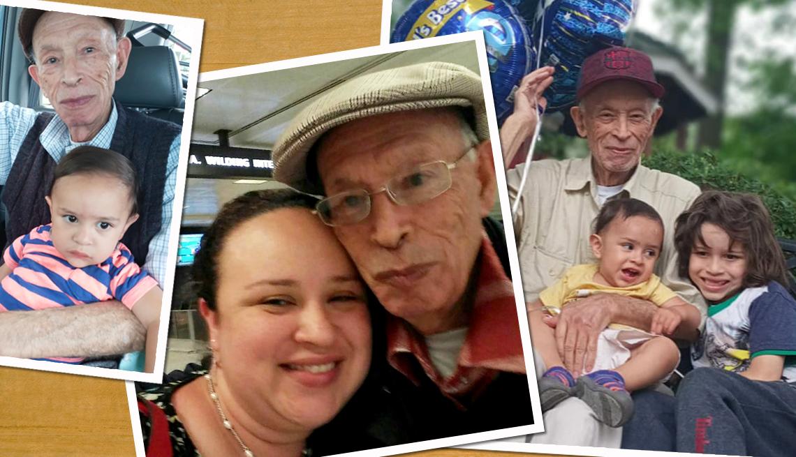 Varias fotos familiares de la familia de Luz Raquel Cardona