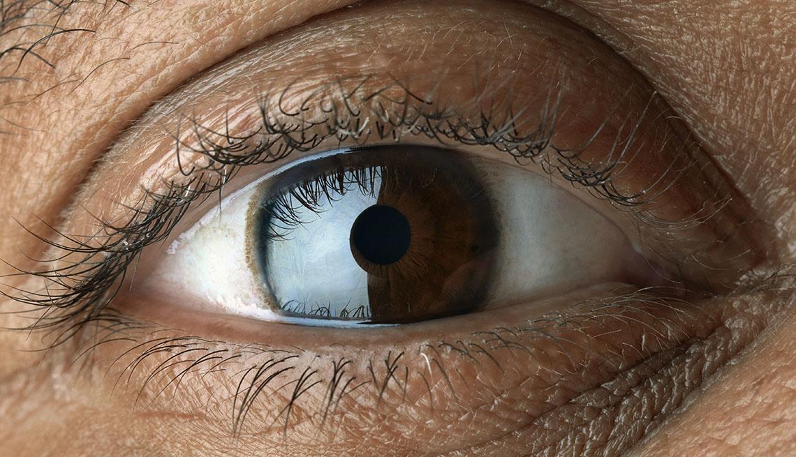 item 8 of Gallery image - close up of eyelashes and eye