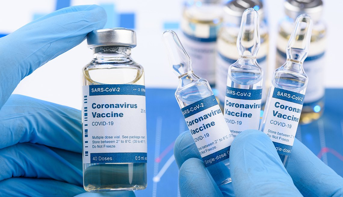 Different vials of coronavirus vaccine
