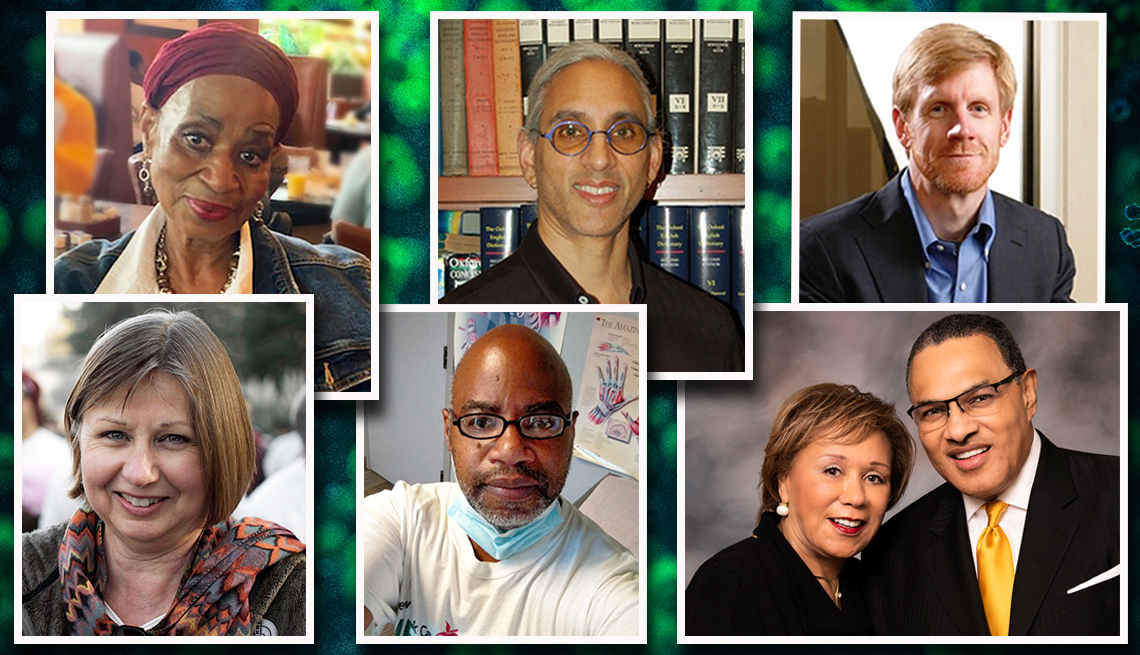 covid vaccine clinical trial participants clockwise from top left are bonnie blue deepak sarma barry colvin freeman and jackie habrowski eduardo rollox and judy stokes