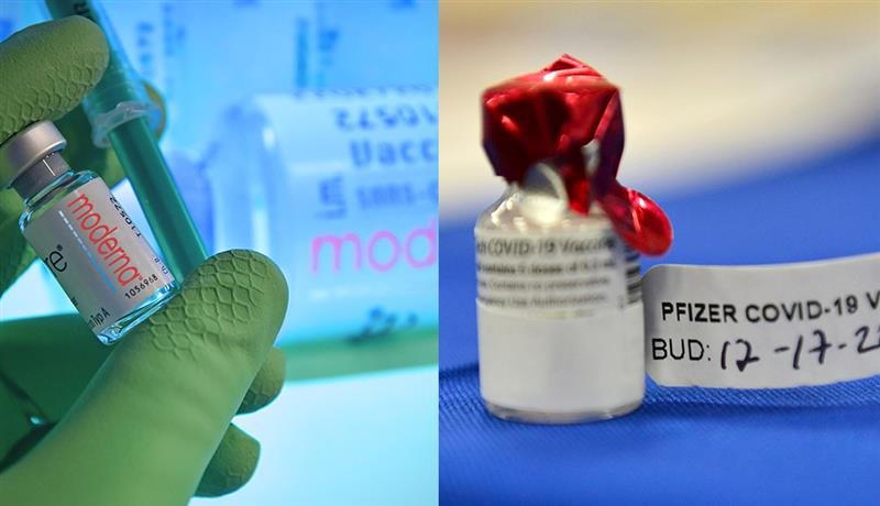 Moderna and Pfizer vaccines